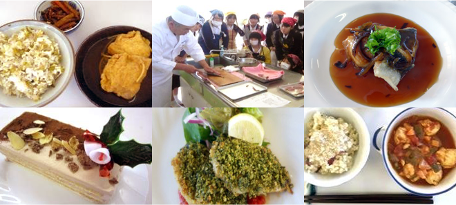 愛媛調理製菓専門学校出張授業風景