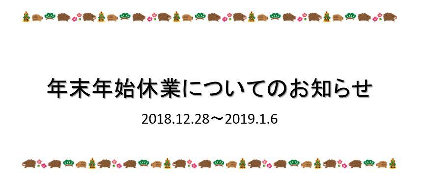 2018-2019年末年始